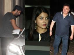 Photo : Ranbir, Anushka, Rishi Kapoor at Bombay Velvet Party