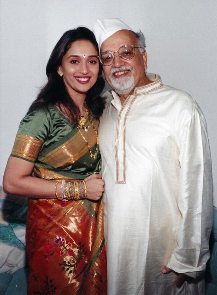 Memories: Madhuri and her father