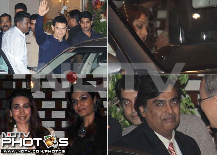 Ash, Aamir, Karisma at Ambani party