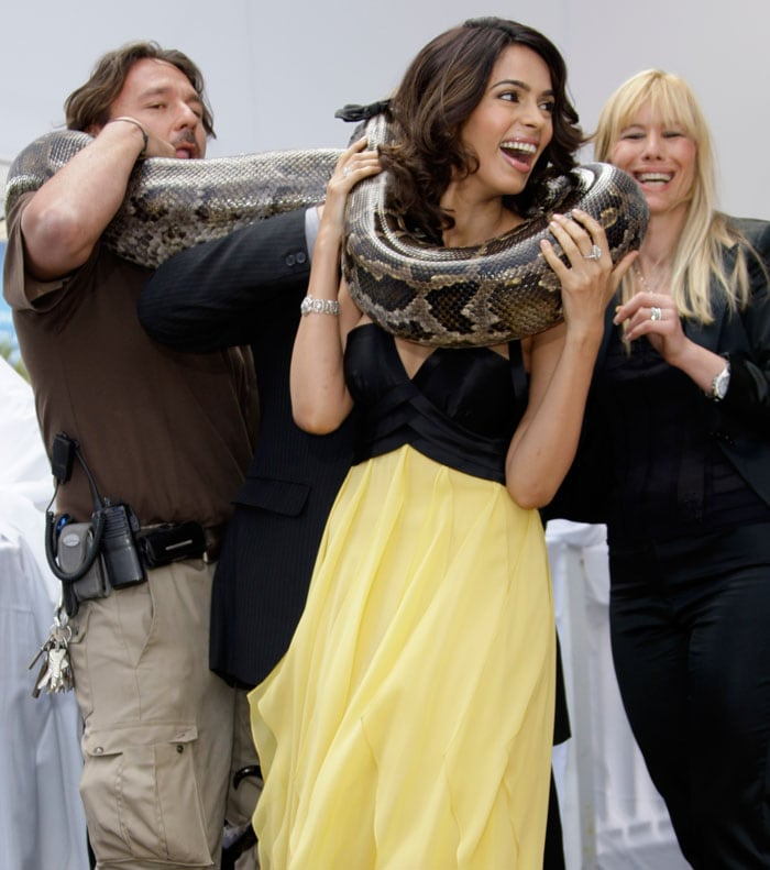 Snakewoman Mallika at Cannes
