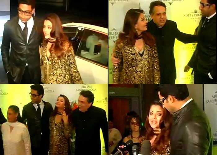 Abhishek, Aishwarya in Abu-Sandeep's 25th anniversary party