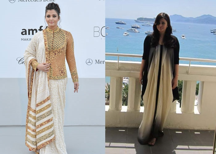 Vote for your favourite Ash look: Sari or dress