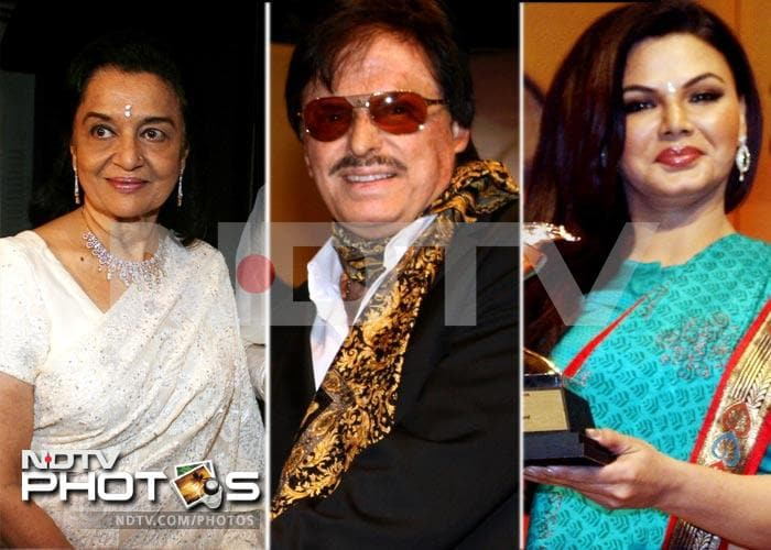 Rakhi Sawant, Asha Parekh, at Ambedkar Awards