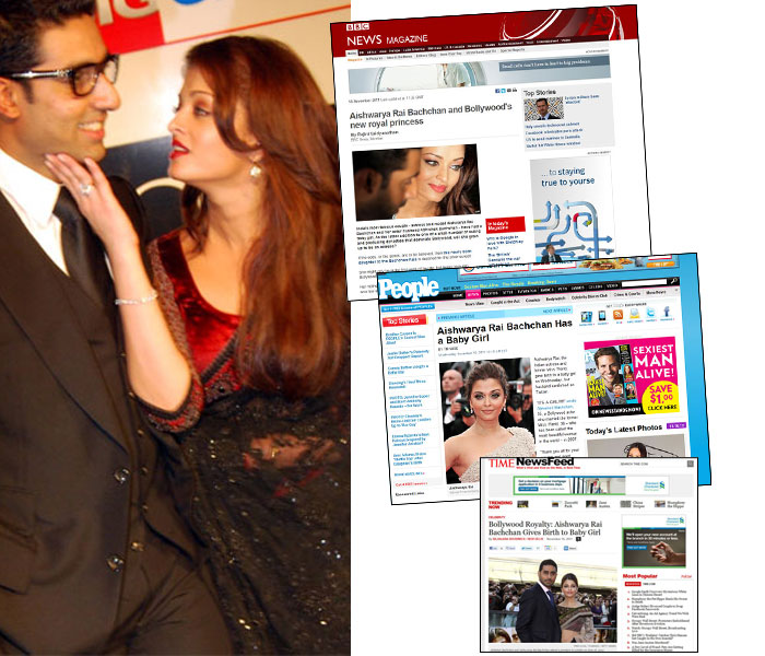 World media loves Aishwarya, Baby B