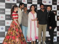 Photo : When the Mighty Met: KJo, Prabhas, Rana Daggubati Launch Baahubali Trailer