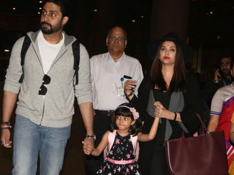 Abhishek, Aishwarya And Aaradhya Are Back in Mumbai