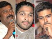 Photo : Chiru, Ram Charan, Allu Arjun at Badrinath audio launch
