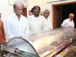 Photo : Rajinikanth Bids Farewell to K Balachander