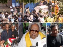 Photo : Rajinikanth, Karunanidhi, Prakash Raj at K Balachander's Funeral