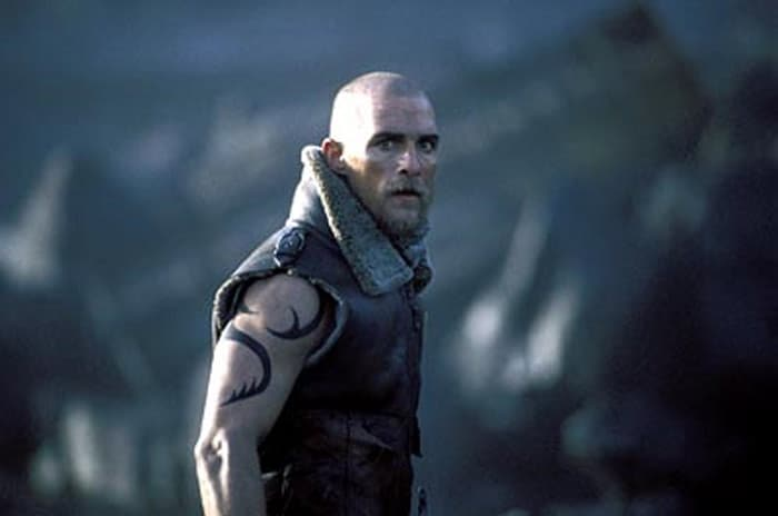 Shaved head sci fi movie