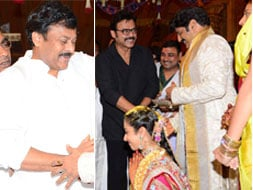 Photo : VIP wedding guests: Chiranjeevi, Venkatesh
