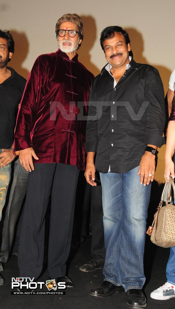 Amitabh, Chiranjeevi at Bbuddah premiere