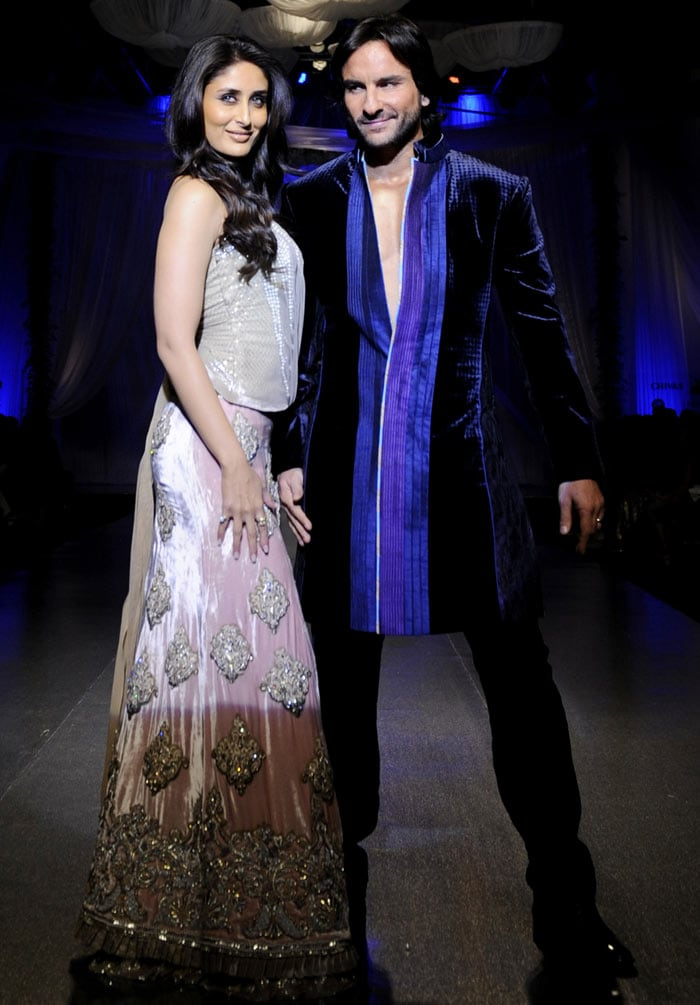 Kareena, Saif do the catwalk together