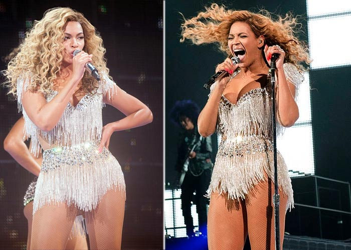 Curvy Beyonce shows off figure at concert