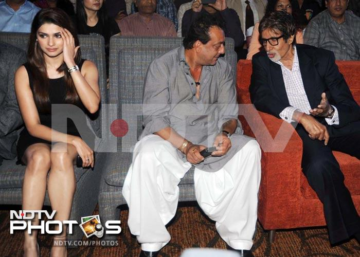 Big B bonds with Sanjay Dutt, leaves Prachi Desai out