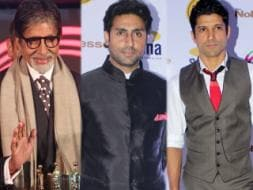 Photo : Men at work: Big B, Abhishek, Farhan