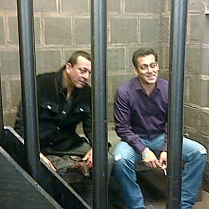 Sanjay-Salman on sets of Bigg Boss Season 5