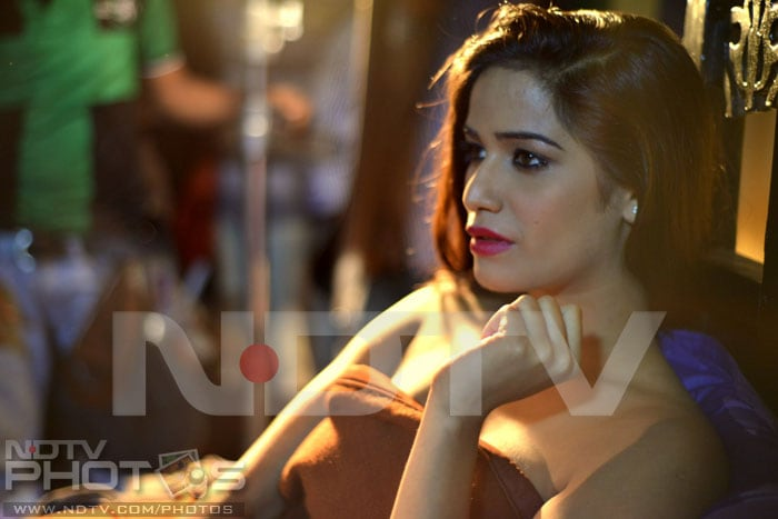 Poonam Pandey's first film shoot