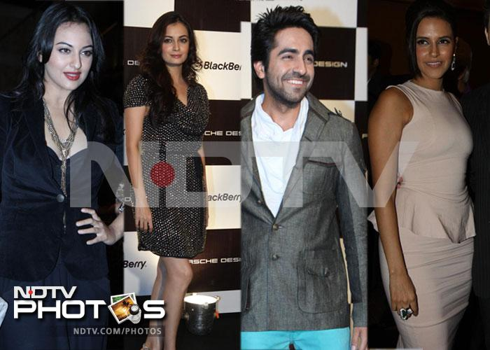 Black magic Sonakshi, Dia at the Porsche party