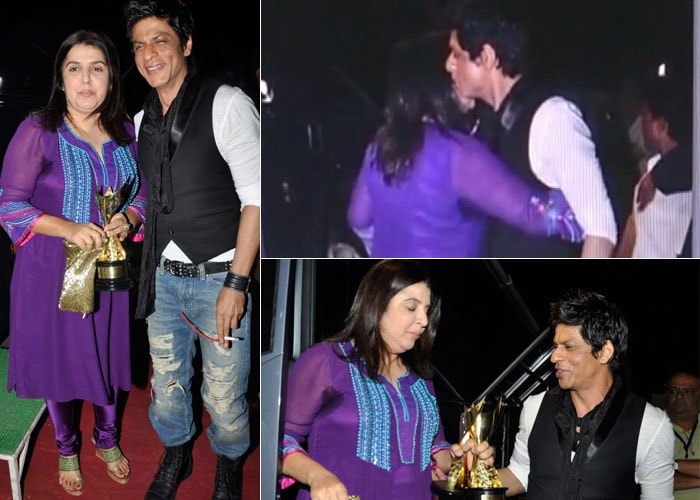 SRK, Farah hug and make up!