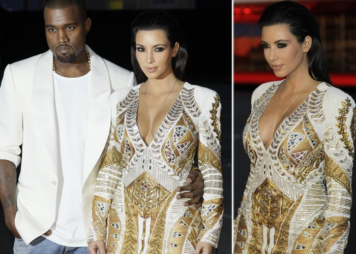 Kim and Kanye get romantic in Cannes