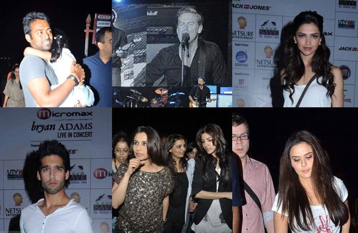 Deepika, Anushka, Rani Sing With Bryan Adams