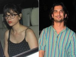 Photo : Aditi Rao Hydari and Sushant Watch Detective Byomkesh Bakshy!