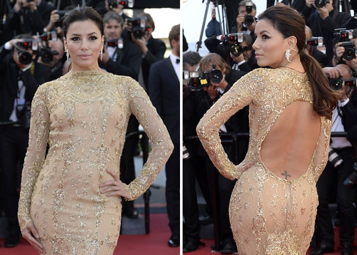 Revealed: Eva Longoria's tramp-stamp