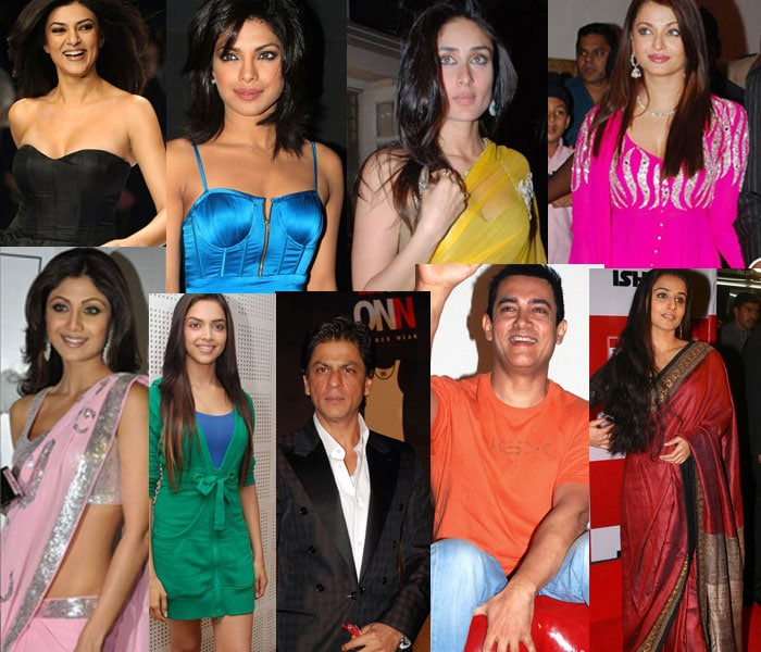 Stars flaunt their true colours