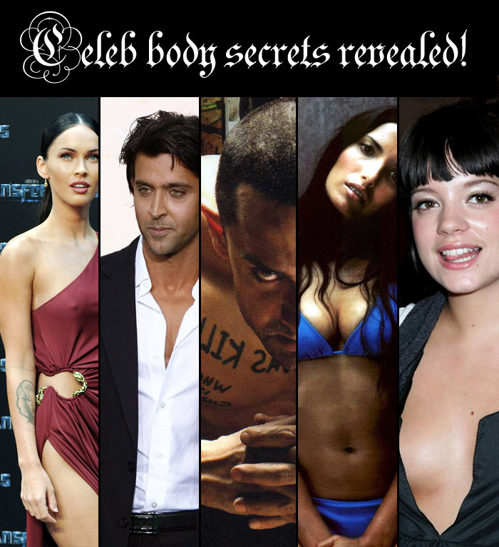 Celeb body secrets revealed!