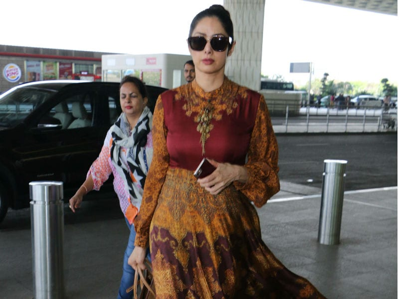 Sridevi Spotted At The Airport In Hawa Hawai Mode