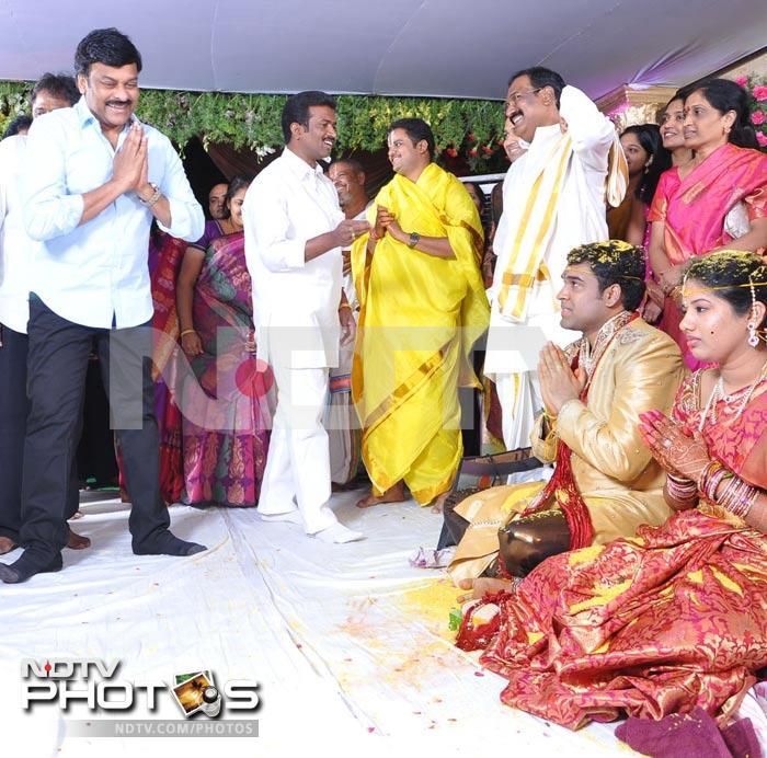 Chiranjeevi at Ahuti Prasads sons wedding