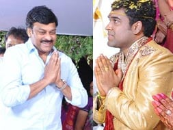 Photo : Chiranjeevi at Ahuti Prasad's son's wedding