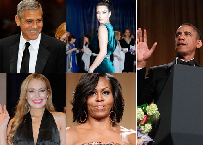 Clooney, Kim, Charlize and other stars at White House Correspondents Dinner
