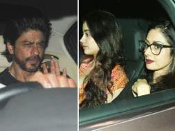 Photo : Shah Rukh, Alia Watch Dear Zindagi With Sridevi, Jhanvi
