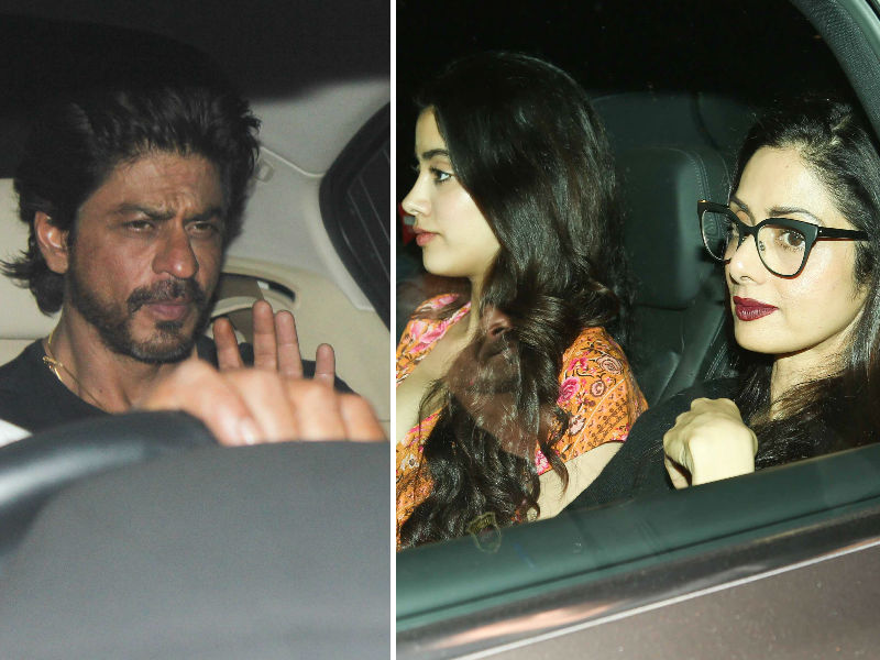 Shah Rukh, Alia Watch Dear Zindagi With Sridevi, Jhanvi