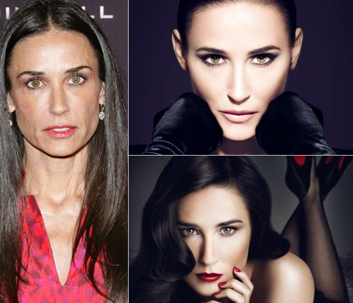 Demi Moore's shocking new airbrushed images