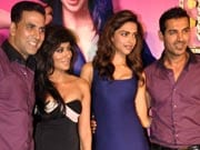 Photo : Finally, the ladies appear at the Desi Boyz music launch