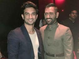 Photo : When M S Dhoni Caught His Own Biopic With Sushant Singh Rajput