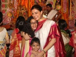 Photo : Sushmita, Vidya, Sakshi's Durga Puja Celebrations
