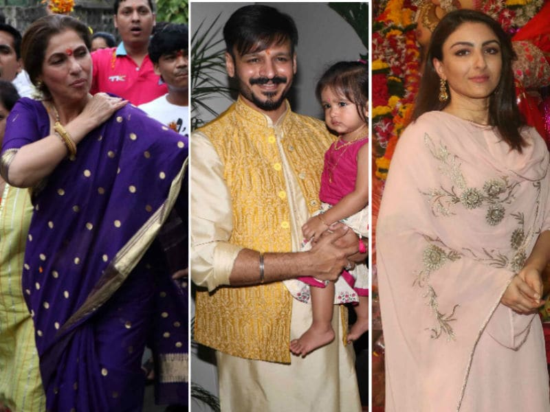 Dimple, Vivek, Soha's Ganpati Visarjan Was Full of Celebration