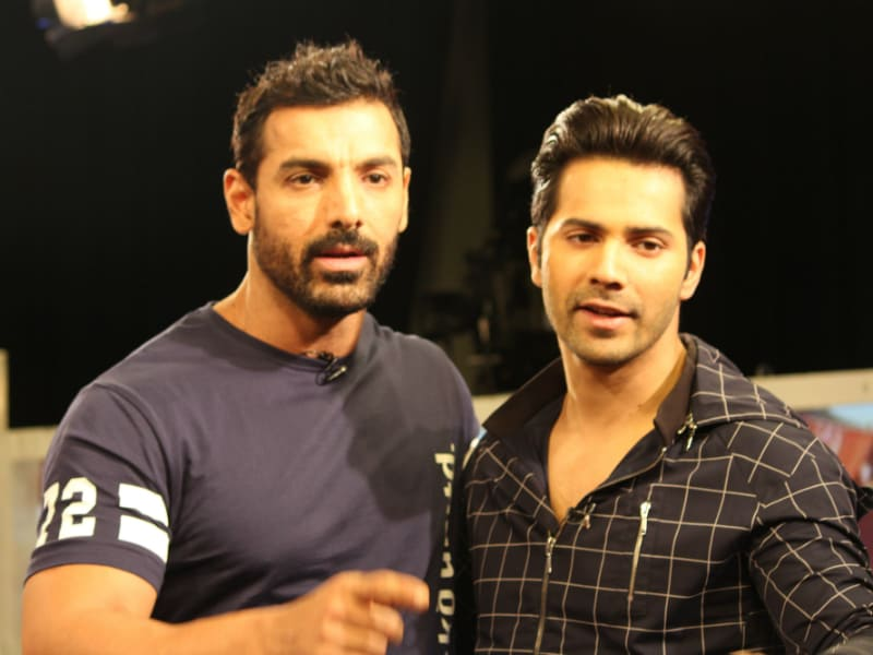 Varun and John Packed Quite a Dishoom at NDTV Studios