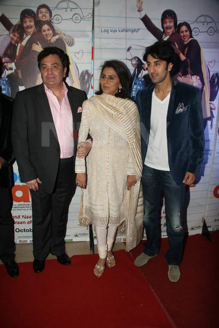 Ranbir at the premiere of Rishi, Neetu's Do Dooni Chaar