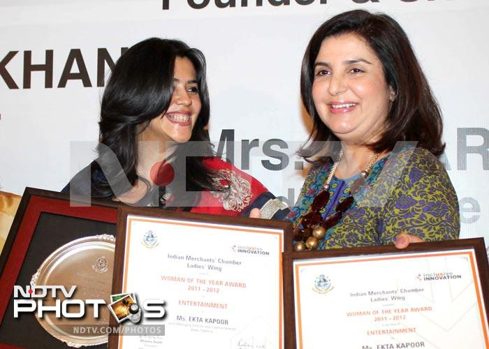Ekta Kapoor receives Woman of the Year award