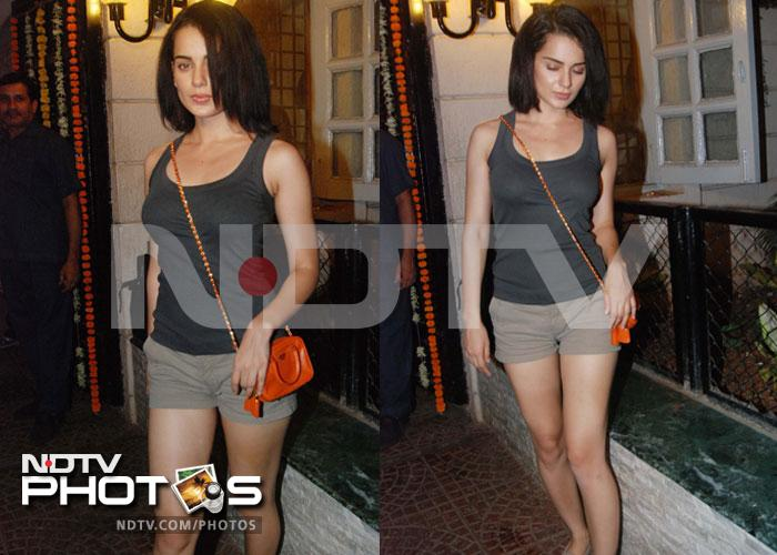 Kangana, Tusshar party with Ekta Kapoor