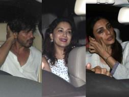 Photo : Shah Rukh's Jabra Fan Screening With Madhuri, Ranveer, Tabu