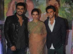 Photo : Angie's Lovely Triangle: Arjun, Deepika, Ranveer