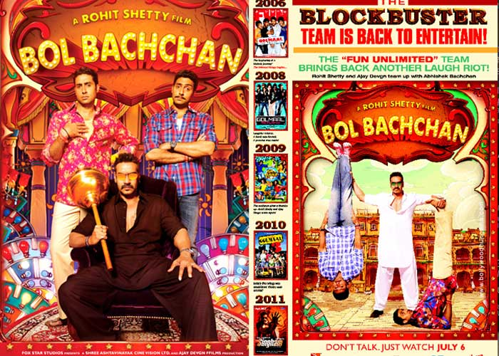 First look: Ajay, Abhishek in Bol Bachchan