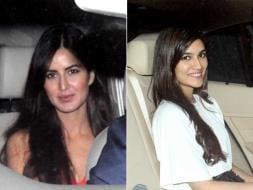 Photo : When Katrina, Kriti, Aditya Watched Fitoor Together