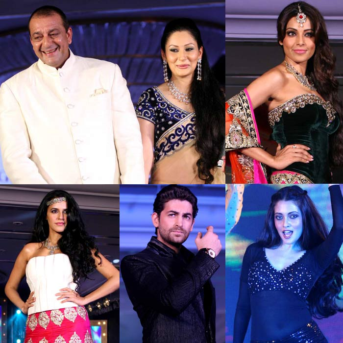 Sanjay-Maanyata Dutt, Bipasha walk the ramp